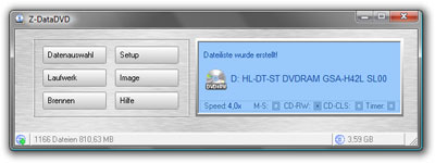 DVD Datensicherung Backup