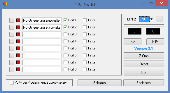 Steuersoftware Z-ParSwitch für Windows